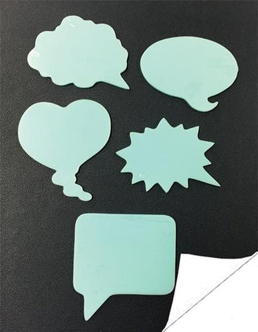 Conversation Bubbles Adhesive Backed Acrylic Shapes