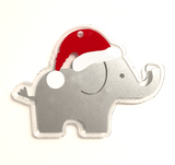 Elephant with Santa Hat Shaped Acrylic - CraftChameleon