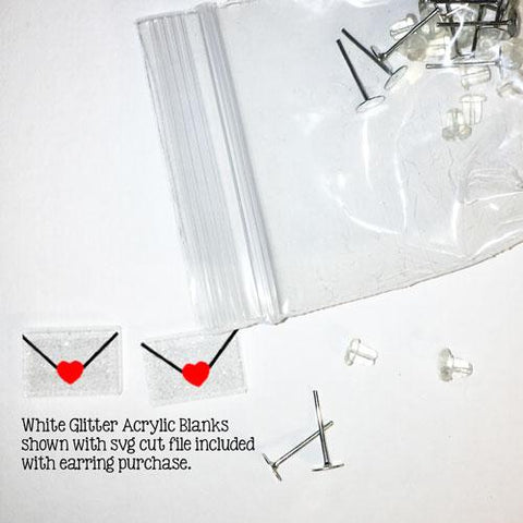 Envelope DIY Blank Acrylic Earrings