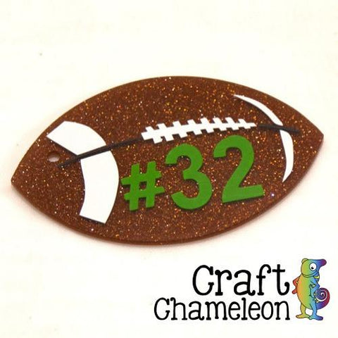 "Set of 5 ~ Acrylic Shaped Football 1"", 2"", 2.25"", 3"" - CraftChameleon  - 1"