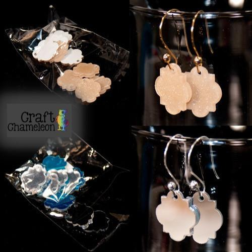 Set of 10 ~ Moroccan Quatrefoil Acrylic Charm Shape for Earrings - CraftChameleon  - 1