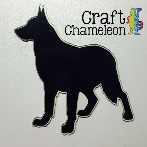 German Shepherd Acrylic Shaped Dog - CraftChameleon  - 1