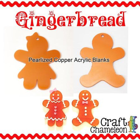 Acrylic Shaped Gingerbread People - CraftChameleon  - 1