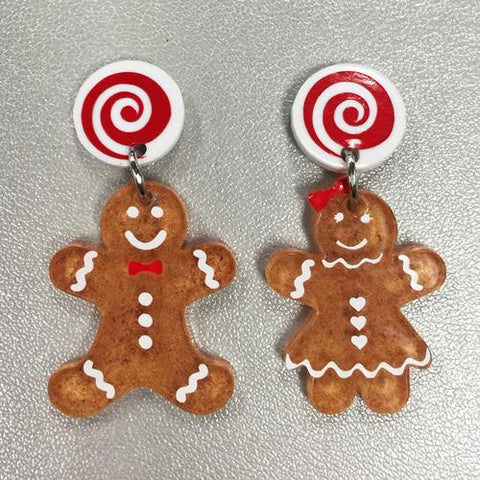 DIY Gingerbread People Earring Kit ~ Set of 10