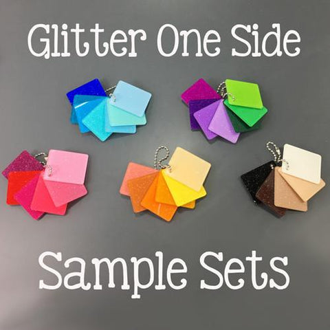 Glitter Color Acrylic Sample Sets - CraftChameleon