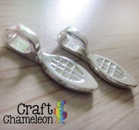 Set of 25 ~ Silver Plate Bails - CraftChameleon  - 1