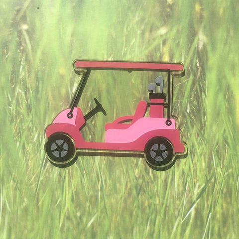 Golf Cart Shaped Acrylic - CraftChameleon  - 1