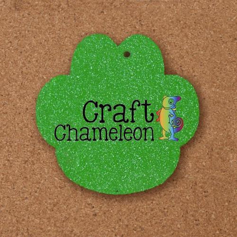 "Set of 10 ~ 15/16"" Paw Print Acrylic Charm Shape - CraftChameleon  - 1"