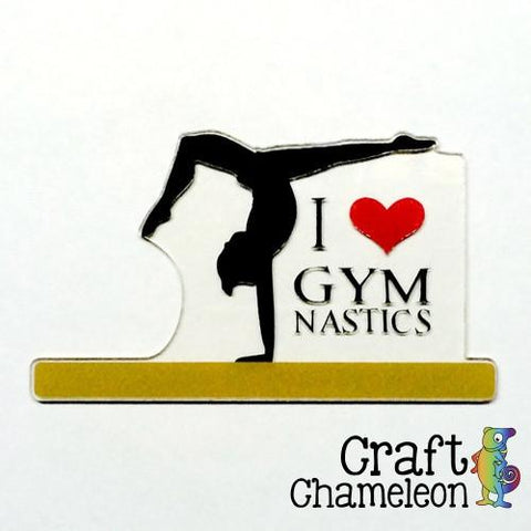 Gymnast on Balance Beam Acrylic Shape  Boy and Girl - CraftChameleon  - 1