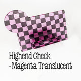Acrylic Business Card Holder with Monogram Space