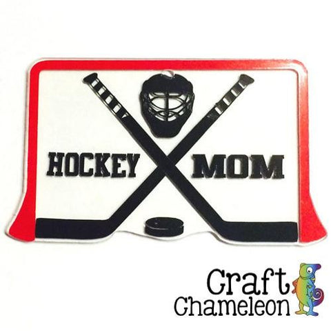 Acrylic Hockey Sticks, Puck, Mask and Goal - CraftChameleon  - 1