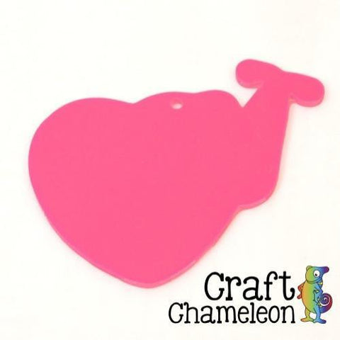 Set of 10 ~ Heart Stethoscope Acrylic Charm Shape for Bracelet Necklace Earrings - CraftChameleon