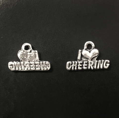 I (heart) Cheer charms - CraftChameleon