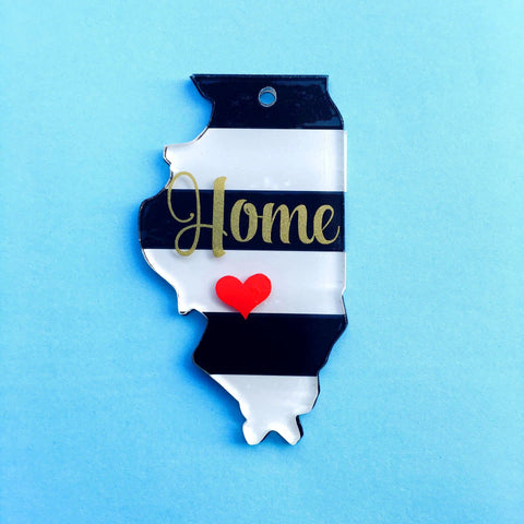Illinois Acrylic State Shape ~ Multiple Sizes - CraftChameleon  - 1