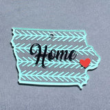 Iowa Acrylic Blank State Shape ~ Multiple Sizes