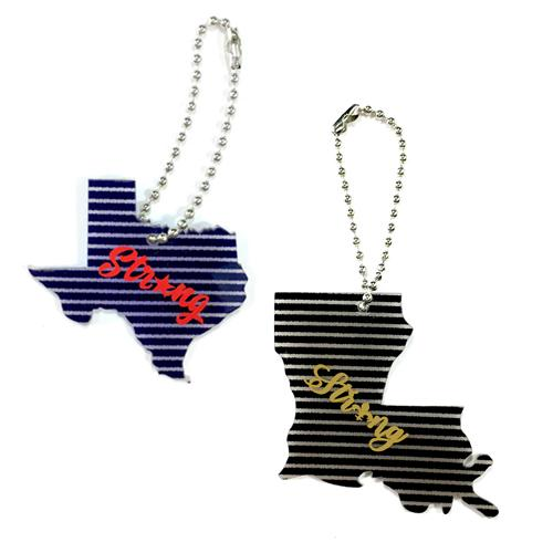 Texas and Louisiana  Strong blue striped acrylic blank for vinyl