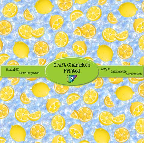 Lemon Zest ~ Leon's Pattern ~ Vinyl, Leatherette, HTV, Acrylic, Sublimation