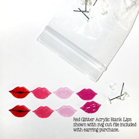Lips DIY Acrylic Blank Earrings