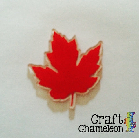 Maple Leaf Acrylic Shape - CraftChameleon - 1