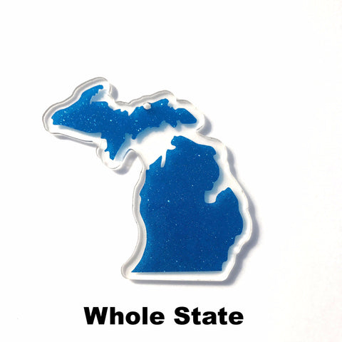 Michigan Acrylic State Shape ~ Multiple Sizes - CraftChameleon