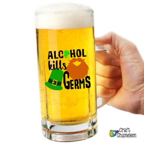 Alcohol Kills Germs Digital Design Only