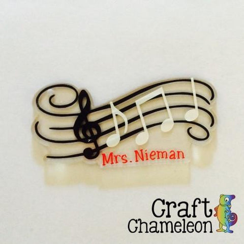 Musical Staff Music Notes Acrylic Shape - CraftChameleon  - 1