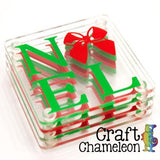 Set of 4 ~ Blank Coasters with Clear Bumpers - CraftChameleon  - 2