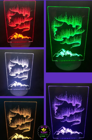 Aurora Borealis (Northern Lights) Light Base Design by ONE Designs DESIGN ONLY