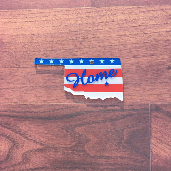 Oklahoma Acrylic State Shape ~ Multiple Sizes - CraftChameleon  - 1