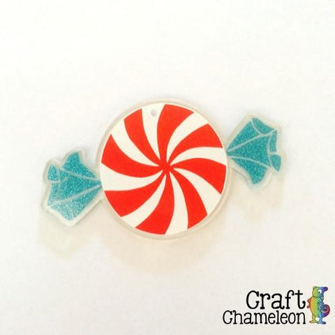 "3"" Peppermint Candy Acrylic Ornament - CraftChameleon  - 1"