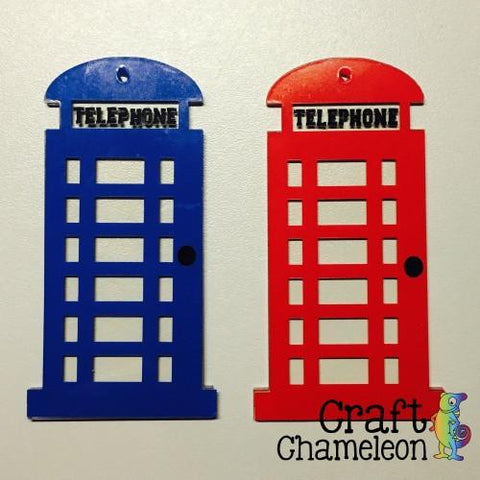 British Phone Booth Acrylic Shape - CraftChameleon  - 1