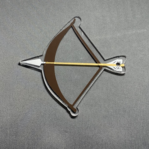 Bow and Arrow Acrylic Blank Shape - CraftChameleon