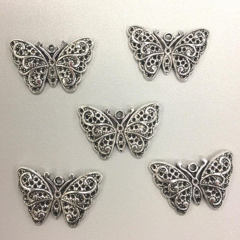 Filagree Butterfly Charms