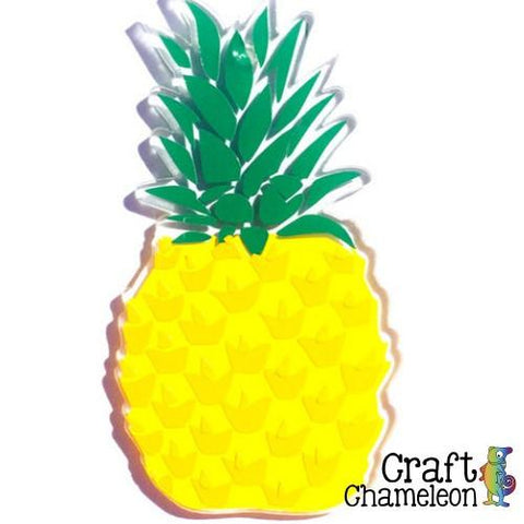 Set of 10 ~ Pineapple Charm Shaped Acrylic - CraftChameleon  - 1