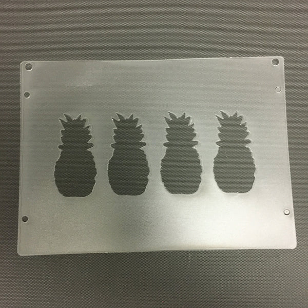 Pineapple 3 inch Plastic Template for Etching - CraftChameleon