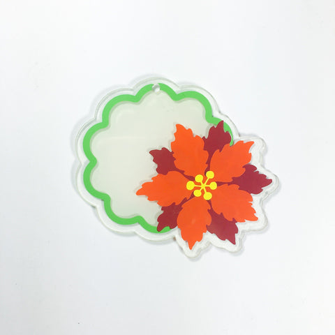 Poinsettia with Monogram Shaped Acrylic - CraftChameleon