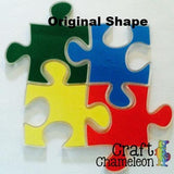 Set of 4 ~ Acrylic Puzzle Pieces - CraftChameleon  - 1