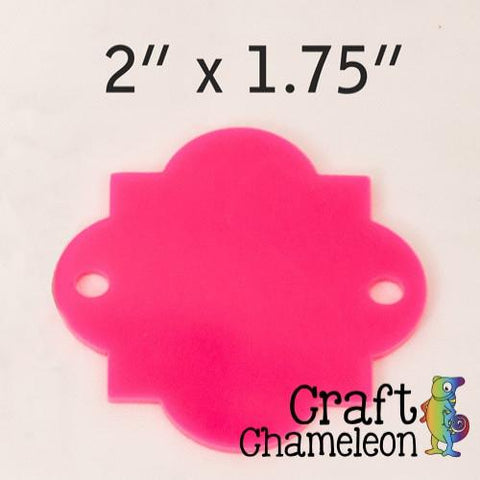 Set of 5 ~ Acrylic Moroccan Quatrefoil Discs 1 or 2 holes - CraftChameleon  - 1