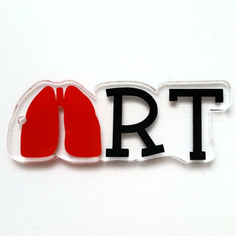RT (Respiratory Therapist) Word Art Shaped Acrylic
