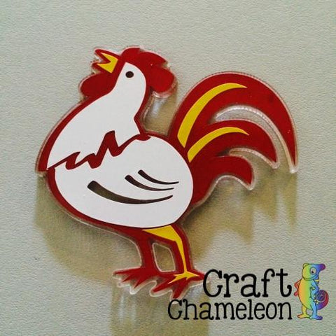 Rooster Acrylic Shape - CraftChameleon  - 1