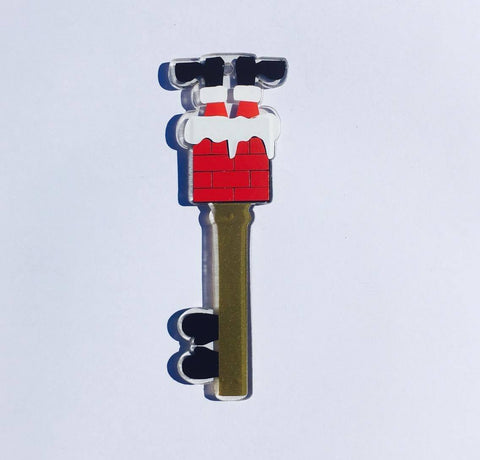 Acrylic Santa Chimney Key with poem - Quick & easy gift! - CraftChameleon  - 1