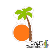 Palm Tree Acrylic Shape - CraftChameleon  - 1