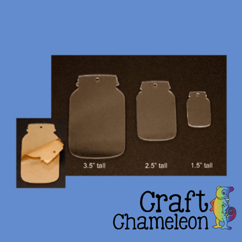 "Acrylic Shaped Mason Jars ~ 1.5"", 2.5"", 3.5"" - CraftChameleon  - 1"