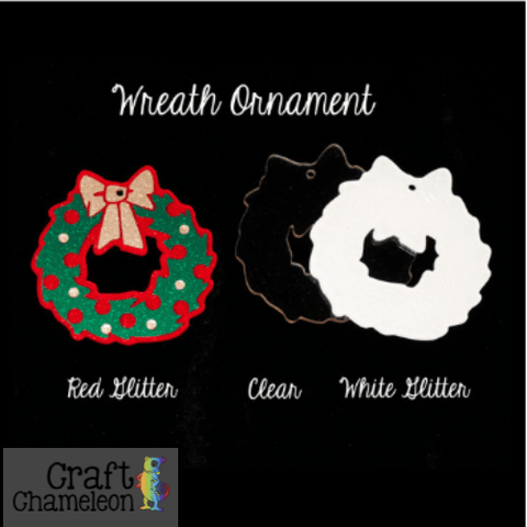 Wreath Acrylic Ornament - CraftChameleon  - 1