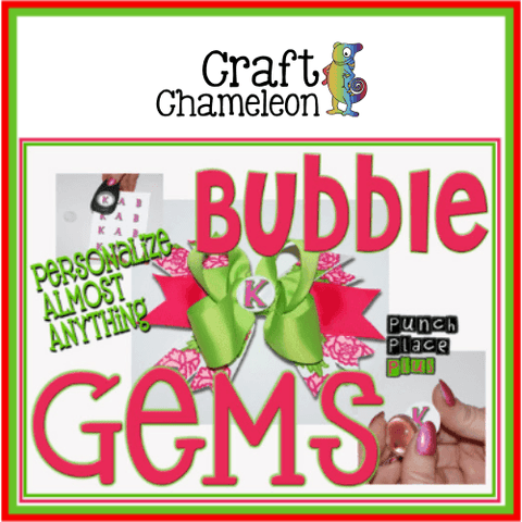 Set of 25 ~ Bubble Gems - CraftChameleon