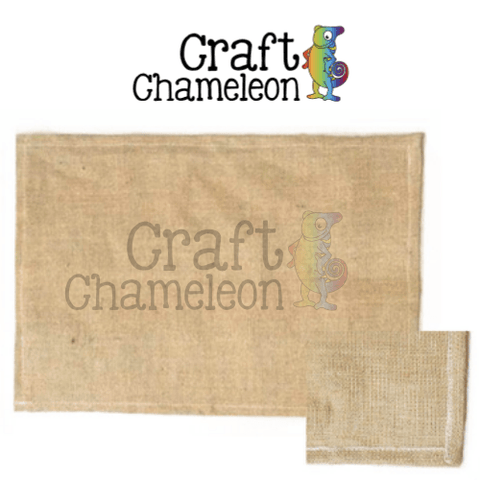 Set of 4 ~ Blank Burlap Placemats - CraftChameleon