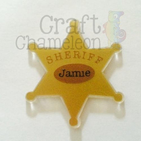 Acrylic Sheriff Badge - CraftChameleon  - 1