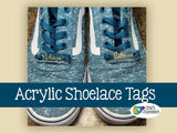 Blank Acrylic Shoelace Tags, Shoe Lace Charms ~ 20 Pieces