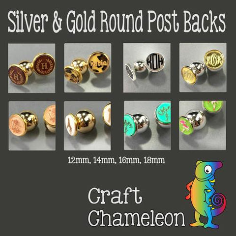 Gold & Silver Tone Round Earring Backs - CraftChameleon