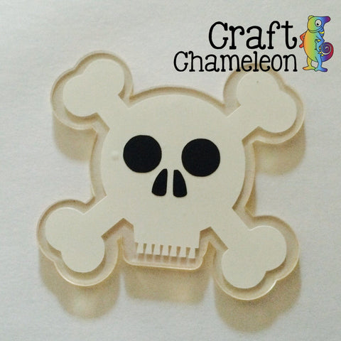 Acrylic Skull and Crossbones - CraftChameleon  - 1
